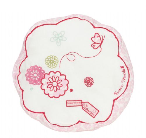 'IZZIWOTNOT' FOREVER FRIENDS PINK COLOUR FILLED ROUND CUSHION